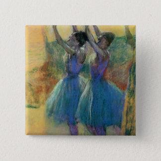 Badge Edgar Degas | deux danseurs bleus
