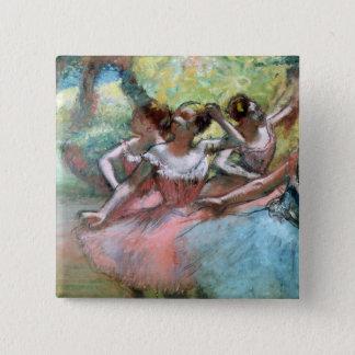 Badge Edgar Degas | quatre ballerines sur l'étape