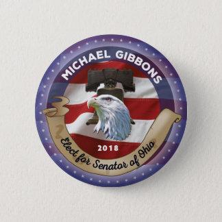 Badge Élisez Michael Gibbons pour le sénateur de l'Ohio