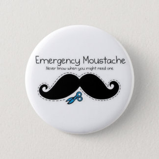 Badge Emergency moustache