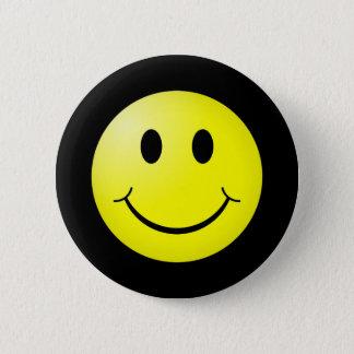 Badge émoticône de smiley de jaune de la culture pop 80s