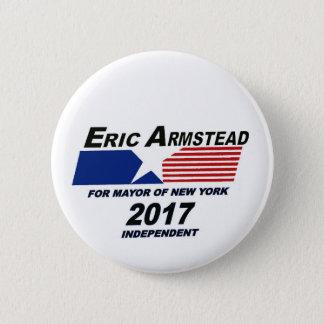 Badge Éric Armstead pour le maire 2017 de NYC