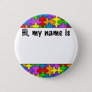 Badge Étiquette nommée d'autisme