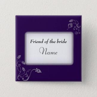 Badge Étiquette nommée de mariage