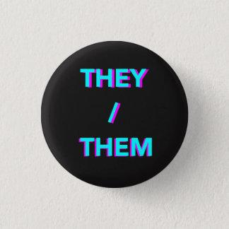Badge eux/eux bouton au néon de pronom