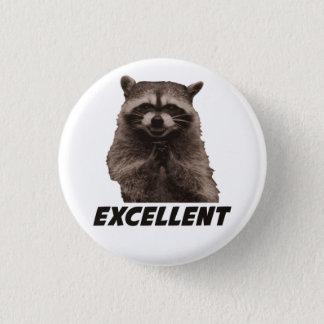 Badge Excellent raton laveur mauvais de traçage