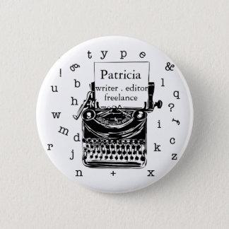 Badge Exposition de machine à écrire votre amour