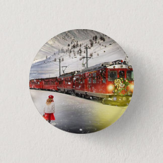 Badge Express de Pôle Nord - train de Noël - train de