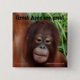 Badge Fan de grande singe