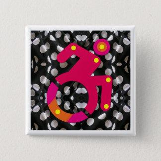 Badge Fauteuil roulant de Polkadot chic