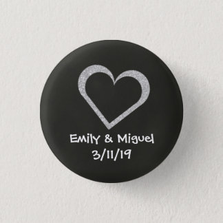 Badge Faveur d'insigne de bouton de mariage de coeur de