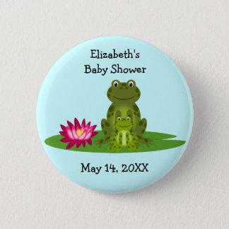 Badge Faveurs de baby shower de thème de grenouille de