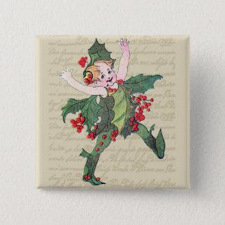 Badge Fée de Noël de houx