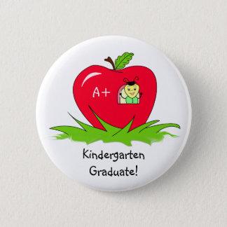 Badge Félicitations rouges licenciées d'Apple de jardin