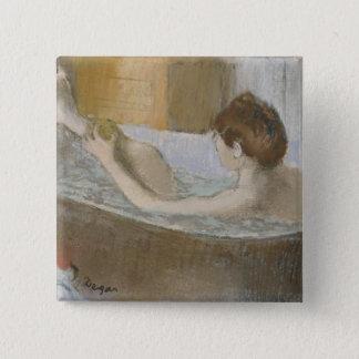 Badge Femme d'Edgar Degas | à son Bath, épongeant sa