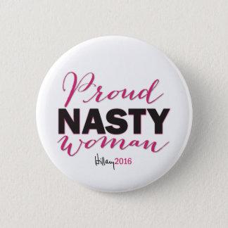 Badge FEMME MÉCHANTE FIÈRE pour le bouton de campagne de