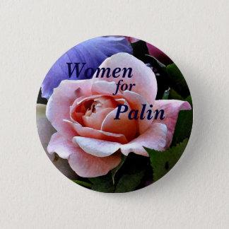 Badge Femmes, parce que, bouton rose de Palin