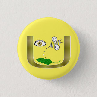 Badge Feuille d'abeille d'oeil dans U