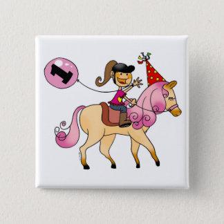 Badge Fille de 1 an sur un poney