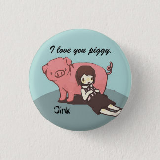 Badge Fille et son porc