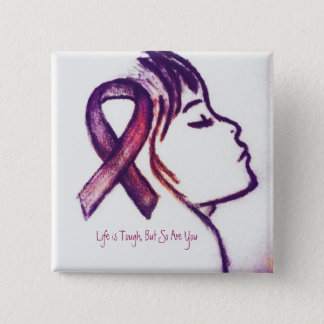 Badge Fille rose de ruban