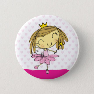 Badge Fille rose mignonne de princesse Ballet