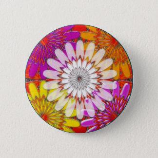 Badge fin colorée de chakra avec le blanc