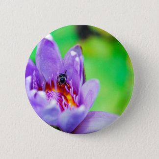 Badge Fleur et abeille
