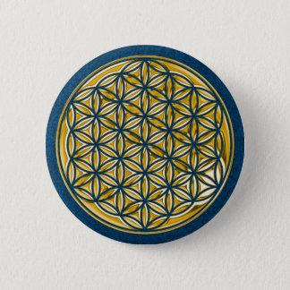 Badge Fleur Live/complètement d'or