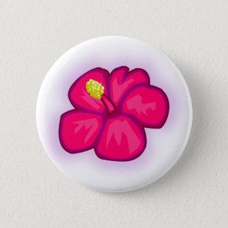 Badge Fleur rose d'Hawaï