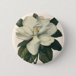 Badge Fleurs blanches de floraison de fleur de magnolia