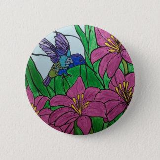 Badge Fleurs d'oiseau de ronflement