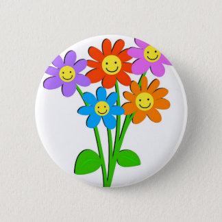 Badge Fleurs heureuses