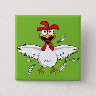 Badge Fling fou drôle d'aile de poulet de bande dessinée