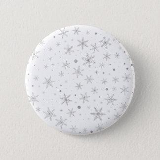 Badge Flocon de neige de scintillement - gris et Blanc