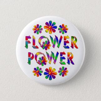 Badge Flower power coloré par arc-en-ciel