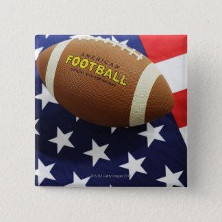 Badge Football américain avec le drapeau des USA
