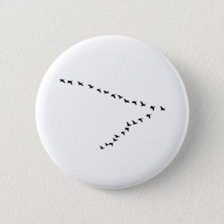 """Badge Formation des oies """"V"""" de vol"""