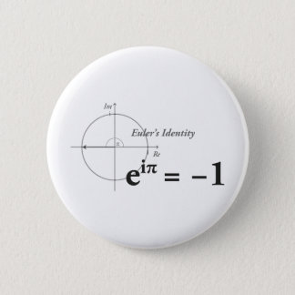 Badge Formule de maths de l'identité d'Euler