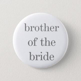 Badge Frère gris des textes du bouton de jeune mariée
