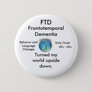 Badge FTD, tourné mon bouton à l'envers du monde