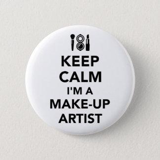 Badge Gardez le calme que je suis un artiste de