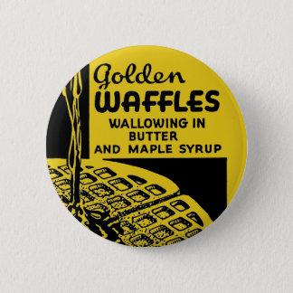 Badge Gaufres d'or se vautrant en beurre