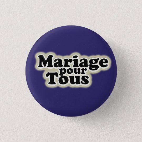 badge gay pride: mariage pour tous