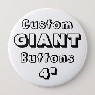 """Badge GÉANT imprimé par coutume 4"""" Pin de bouton"""
