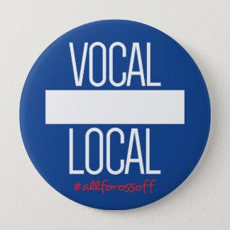 """Badge Gens du pays vocaux do-it-yourself 4"""" bouton de"""