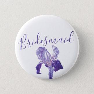 Badge Goupille/bouton pourpres de mariage d'iris de