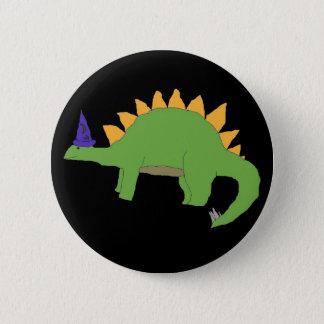 Badge Goupille de Stegosaurus de magicien