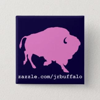 Badge goupille rose de carré de buffle