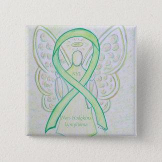 Badge Goupilles de ruban de vert de chaux d'ange de